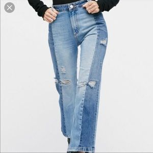 Two-toned Free People Jeans